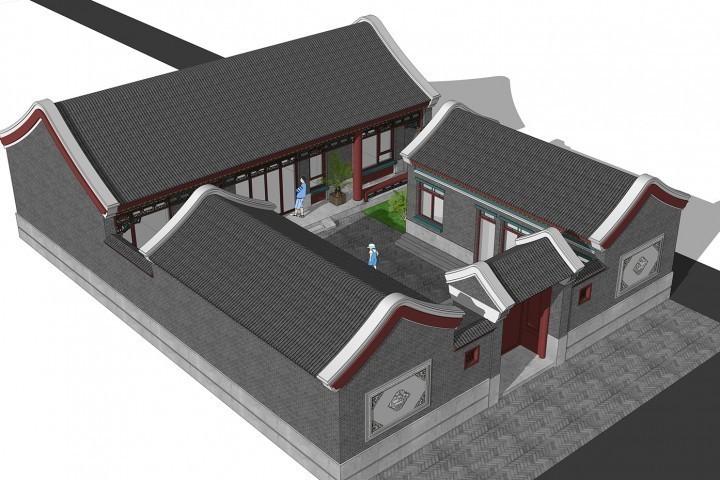 占地15x19一层自建三合院设计全套施工图
