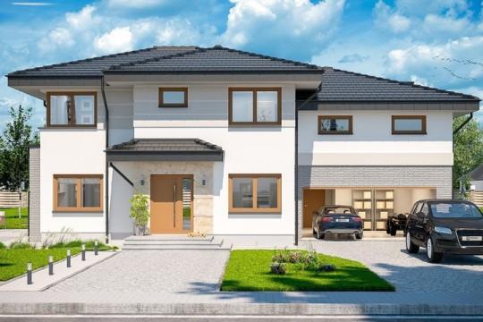 占地17x14二層帶車庫自建別墅設計全套施工圖