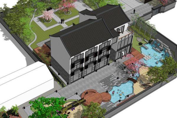 占地27x41三层带露台自建别墅设计全套施工图