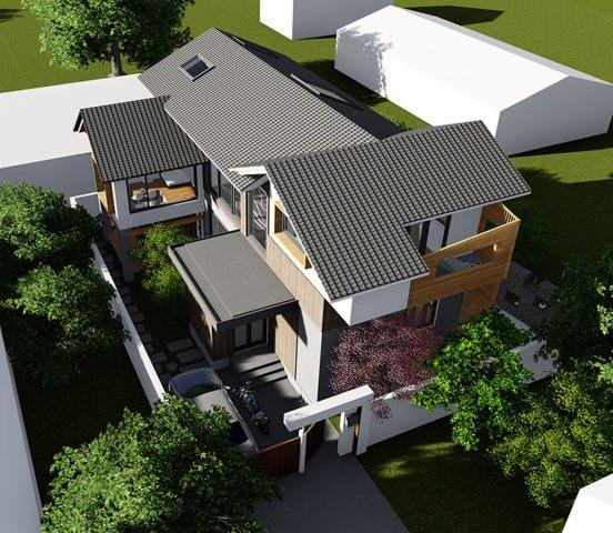 占地15x13三层带车库庭院自建别墅设计全套施工图