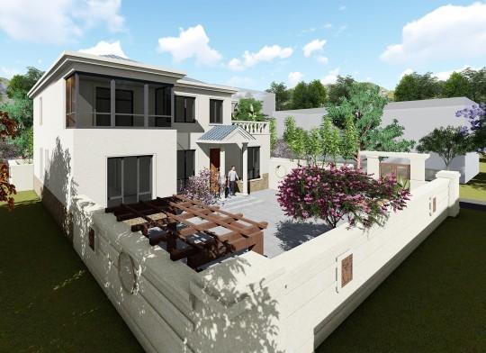 占地13x12二层带露台自建别墅设计全套施工图
