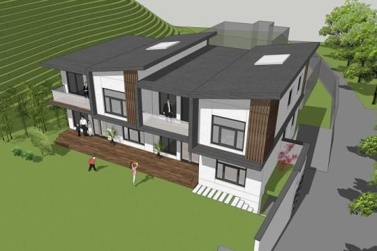 占地17x11二层双拼自建别墅设计全套施工图