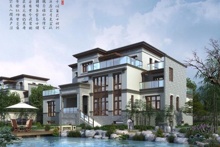 占地23x19三层带露台自建别墅设计全套施工图