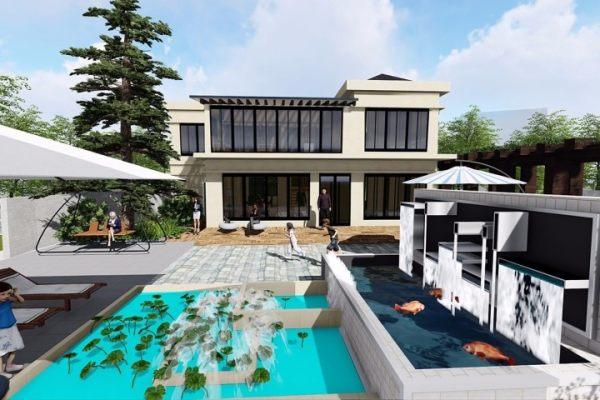 占地12x14二层带庭院自建别墅设计全套施工图