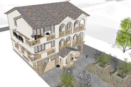 占地14x12三层欧式自建别墅设计全套施工图