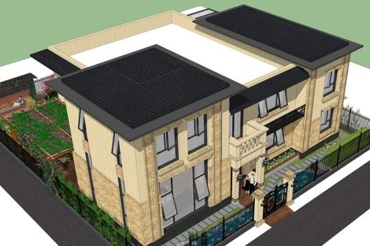占地21x24二层带庭院自建别墅设计全套施工图