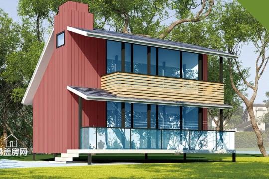 占地7x8二层带露台自建别墅设计全套施工图