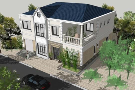 占地13x12二层带车库自建别墅设计全套施工图