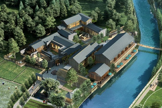 占地40x40二层自建别墅院落设计全套施工图