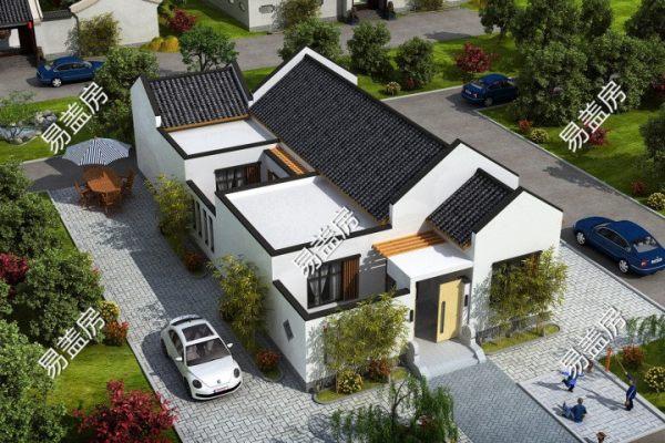 占地10x20一层带庭院自建别墅设计全套施工图