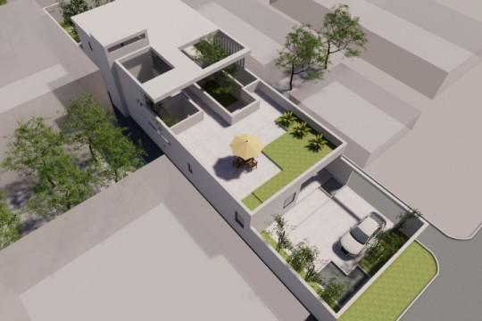 占地10x26二层带庭院车库自建别墅设计全套施工图