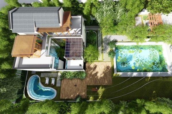 占地14x13三层露台院自建别墅设计全套施工图