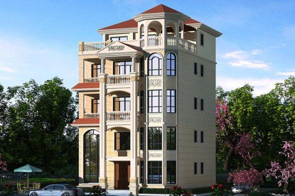 占地12x10五层带露台自建别墅设计全套施工图