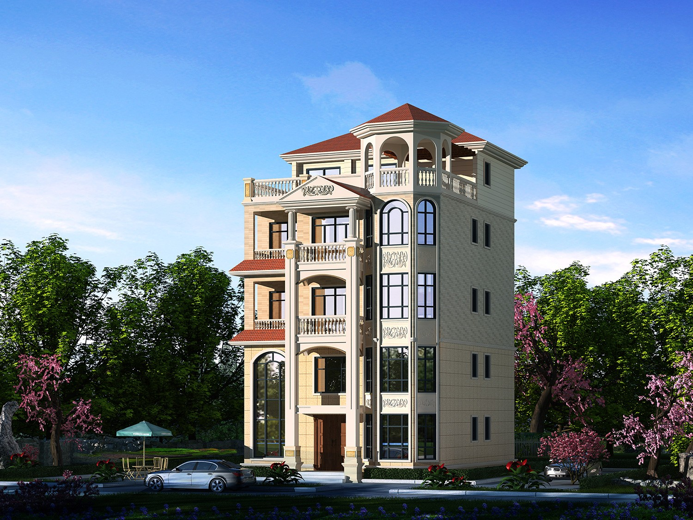 歐式五層別墅設計圖效果圖