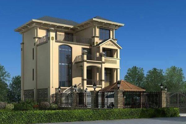 占地26x11四层带露台自建别墅设计全套施工图