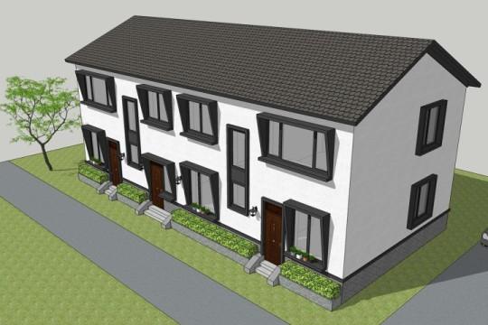 占地17x8二層三拼自建別墅設計全套施工圖