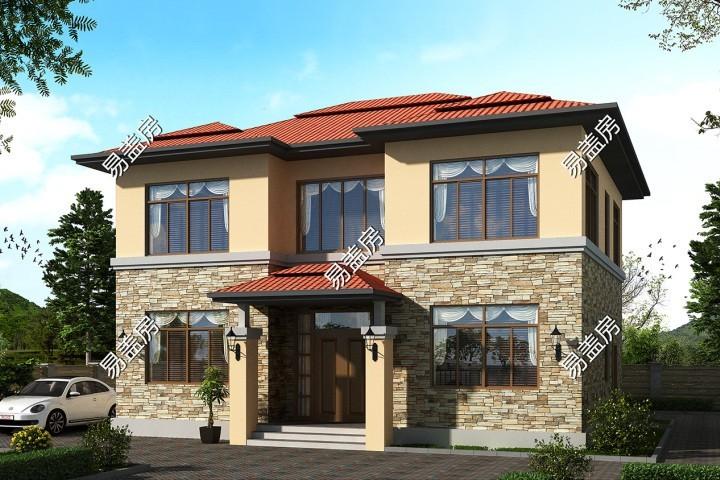 占地12x10二层欧式自建别墅设计全套施工图
