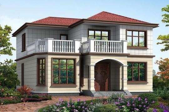占地13x13二層帶露臺自建別墅設計全套施工圖
