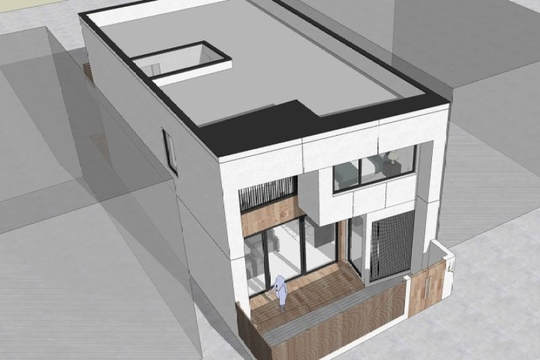 占地7x11二层带庭院自建别墅设计全套施工图