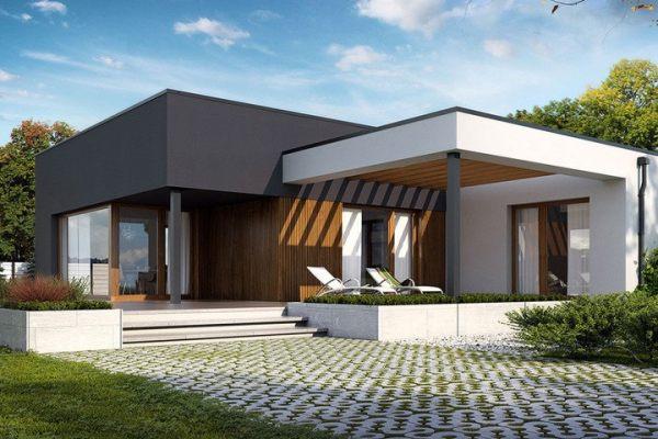 占地17x18一层带车库自建别墅设计全套施工图