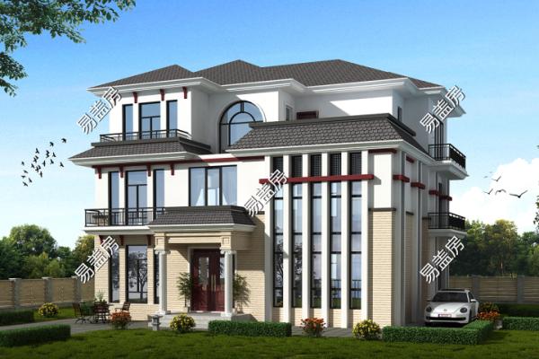 占地14x15三层带露台自建别墅设计全套施工图