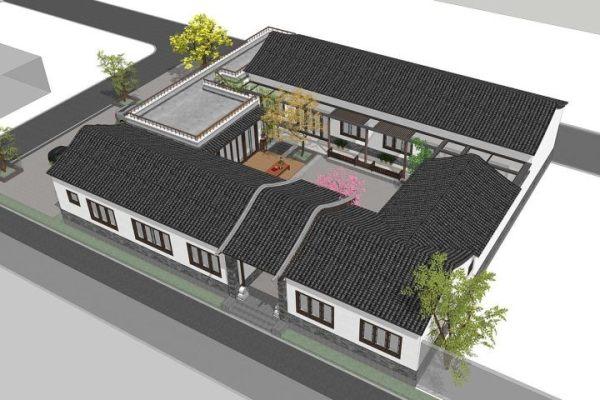 占地30x21一层自建四合院设计全套施工图