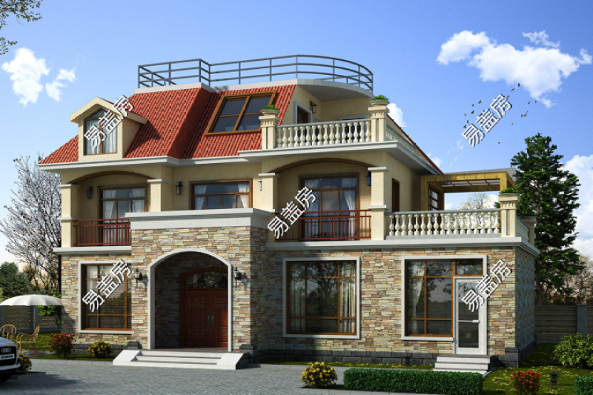 占地16x8二层带阁楼自建别墅设计全套施工图