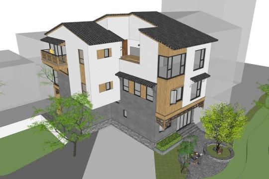 占地11x16三层带露台自建别墅设计全套施工图