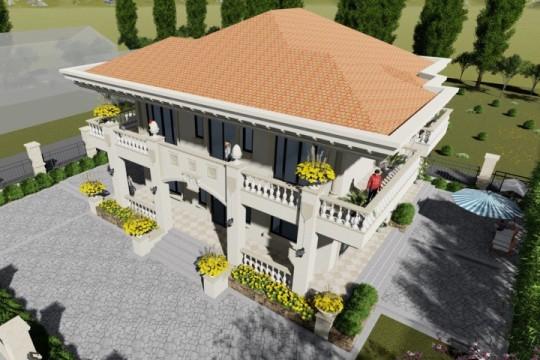 占地15x13二层带庭院自建别墅设计全套施工图