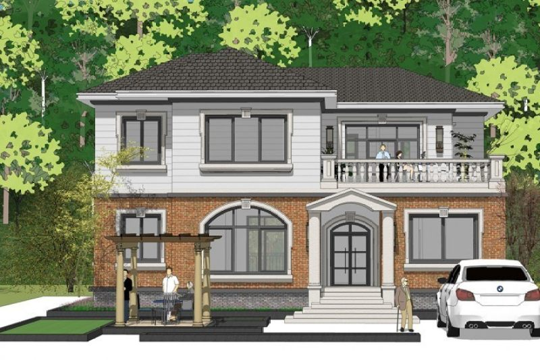 占地16x13二层自建别墅设计全套施工图