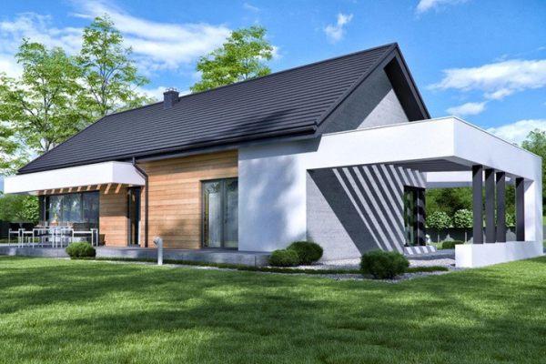 占地15x13一层带车库自建别墅设计全套施工图
