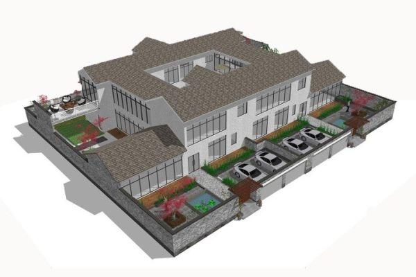 占地36x30二层双拼自建别墅设计全套施工图