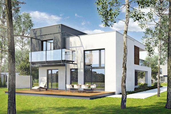 占地13x14二层带露台自建别墅设计全套施工图