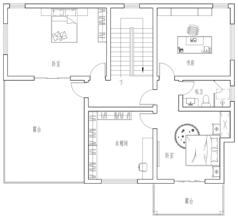 中式三層別墅設計圖平面圖