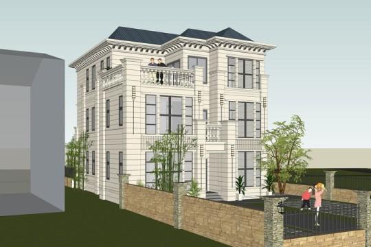 占地11x13三层带露台自建别墅设计全套施工图