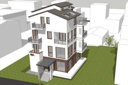 占地10x11四层带露台自建别墅设计全套施工图
