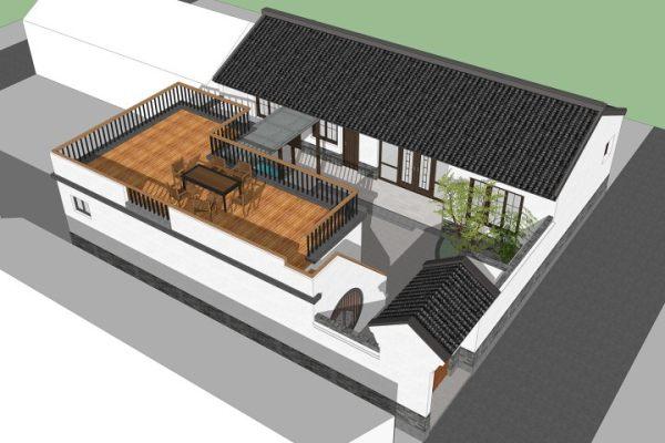占地15x15一层自建四合院设计全套施工图