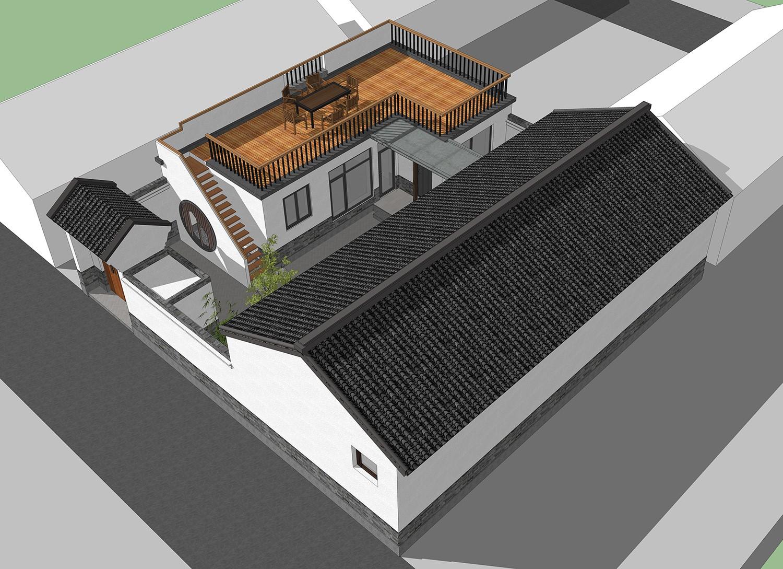 中式一層別墅設計圖效果圖