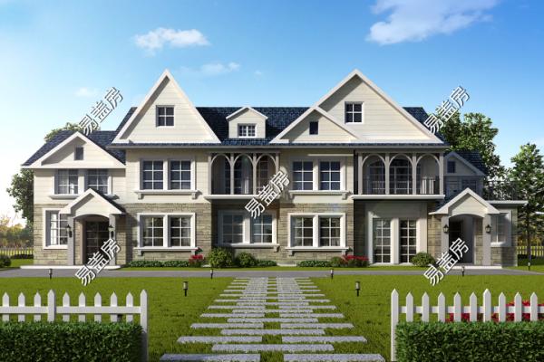 占地21x10二层带阁楼自建别墅设计全套施工图