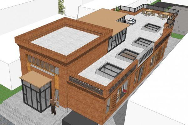 占地9x24一层带天台自建别墅设计全套施工图