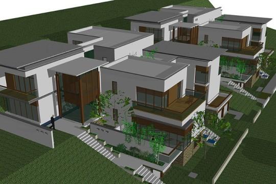 占地26x23四层带露台自建别墅设计全套施工图