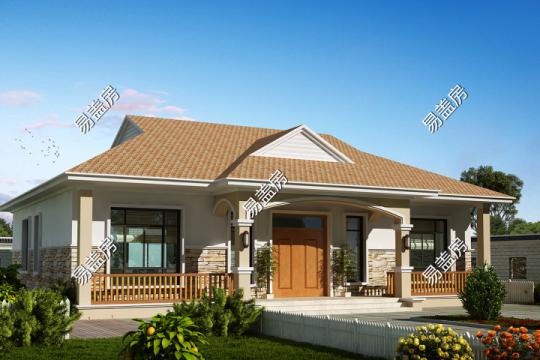 占地16x13一层实用自建别墅设计全套施工图