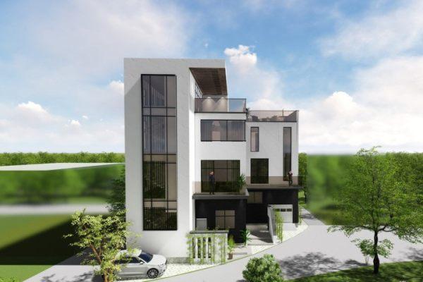 占地15x15四层带露台自建别墅设计全套施工图