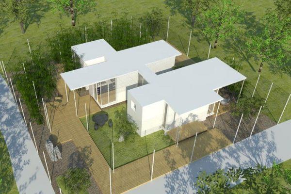 占地20x20一层观景自建别墅设计全套施工图