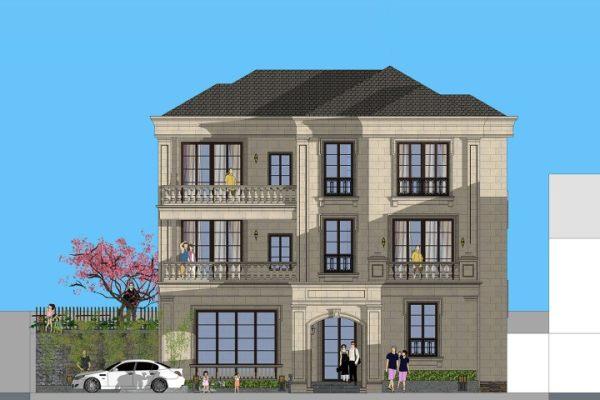占地21x35三层带庭院自建别墅设计全套施工图