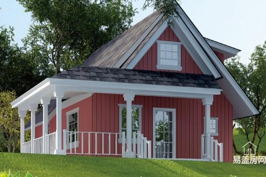 占地10x5二层带阁楼自建别墅设计全套施工图