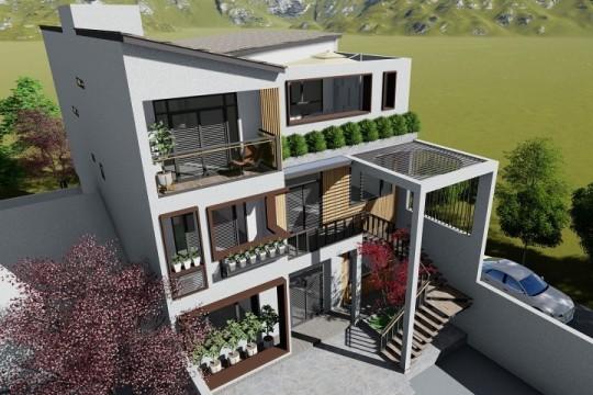 占地10x15三层带庭院自建别墅设计全套施工图