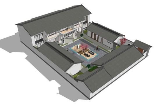 占地26x34二层自建四合院设计全套施工图