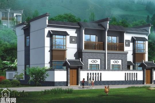 占地8x18二层带庭院双拼自建别墅设计全套施工图