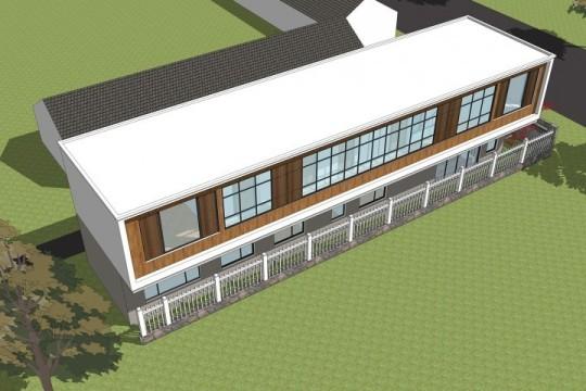 占地23x5二层带庭院自建别墅设计全套施工图